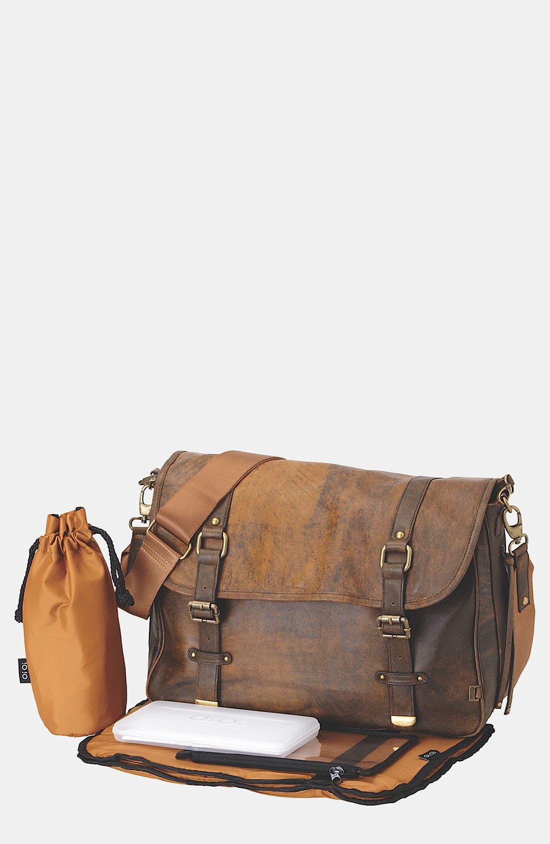 Alternate Image 1 Selected - OiOi 'Jungle' Leather Diaper Bag