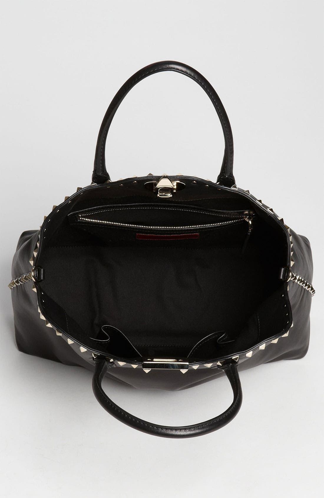 Alternate Image 3  - Valentino 'Rockstud' Leather Dome Handbag