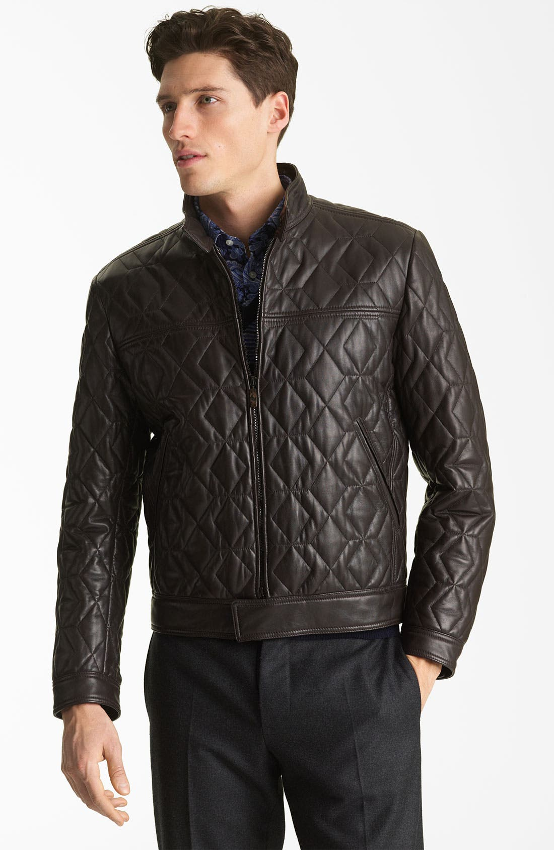 Main Image - Etro Leather Jacket