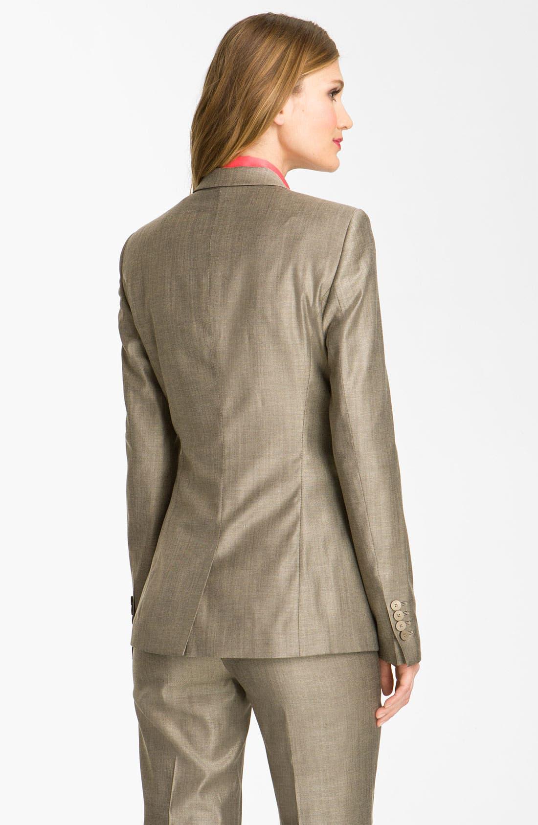 Alternate Image 4  - BOSS HUGO BOSS Flat Front Trousers