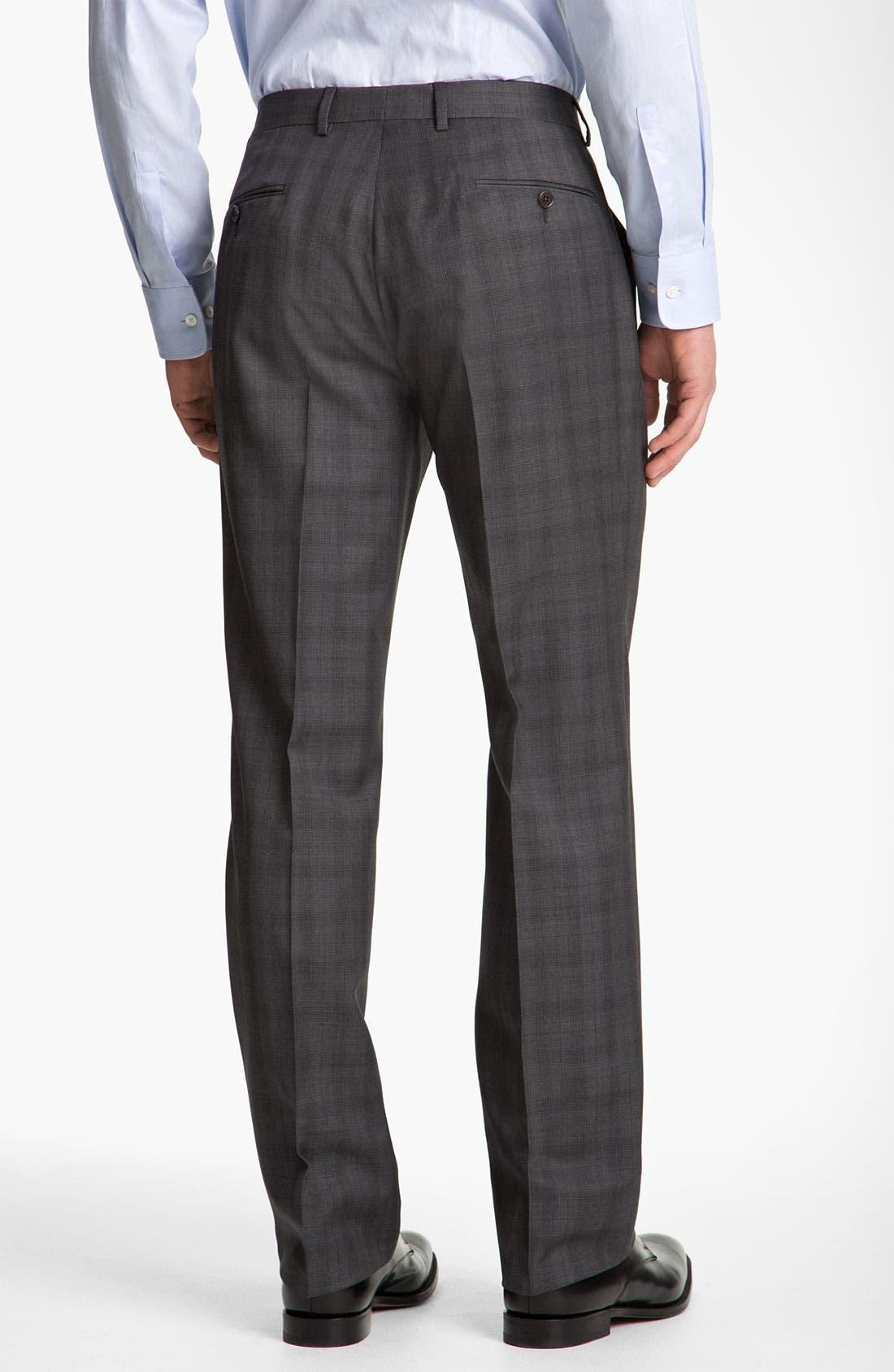 Alternate Image 5  - John Varvatos Star USA 'Chester' Plaid Three Piece Suit