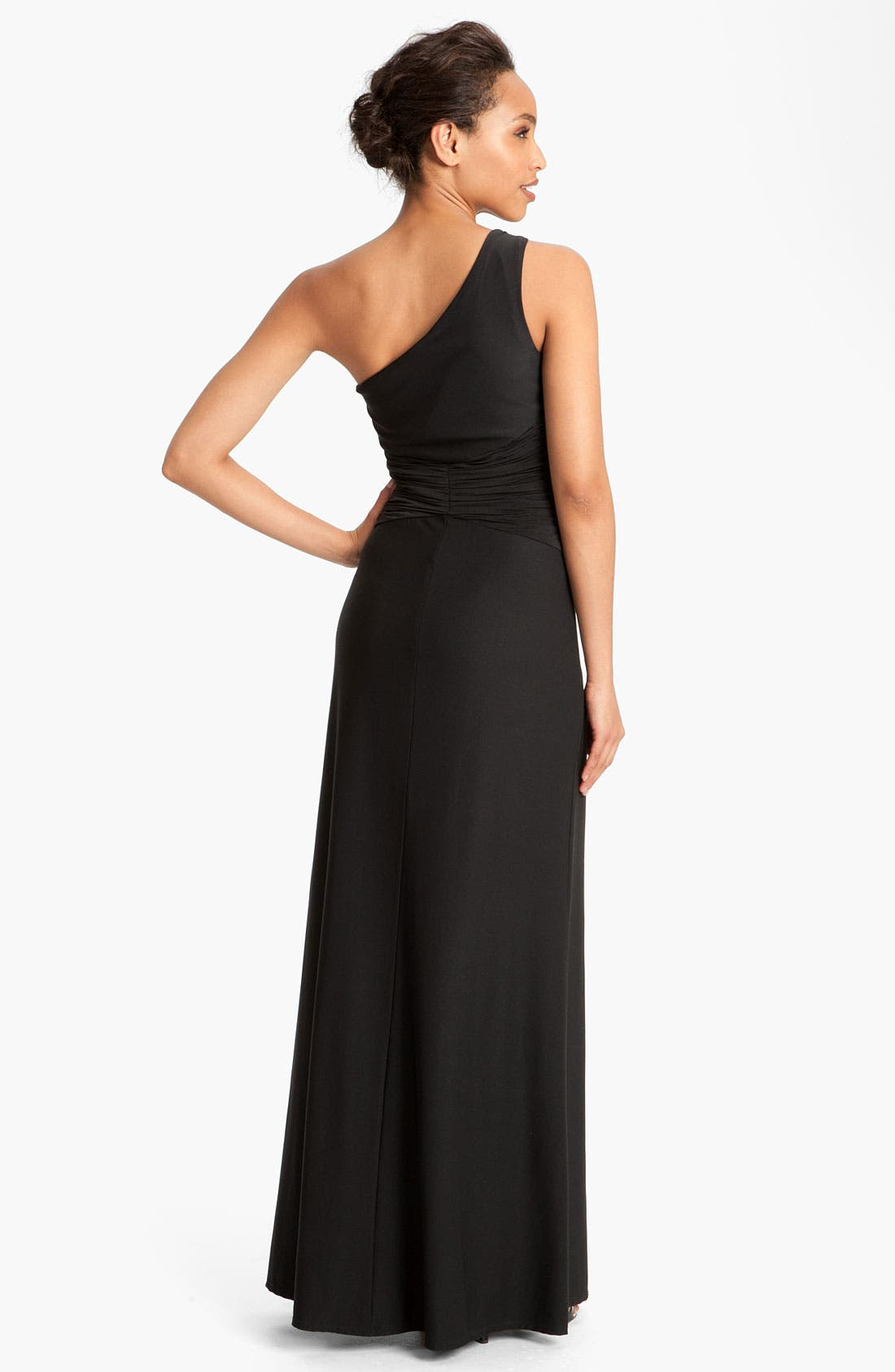 Alternate Image 2  - Max & Cleo 'Jenny' One Shoulder Jersey Gown