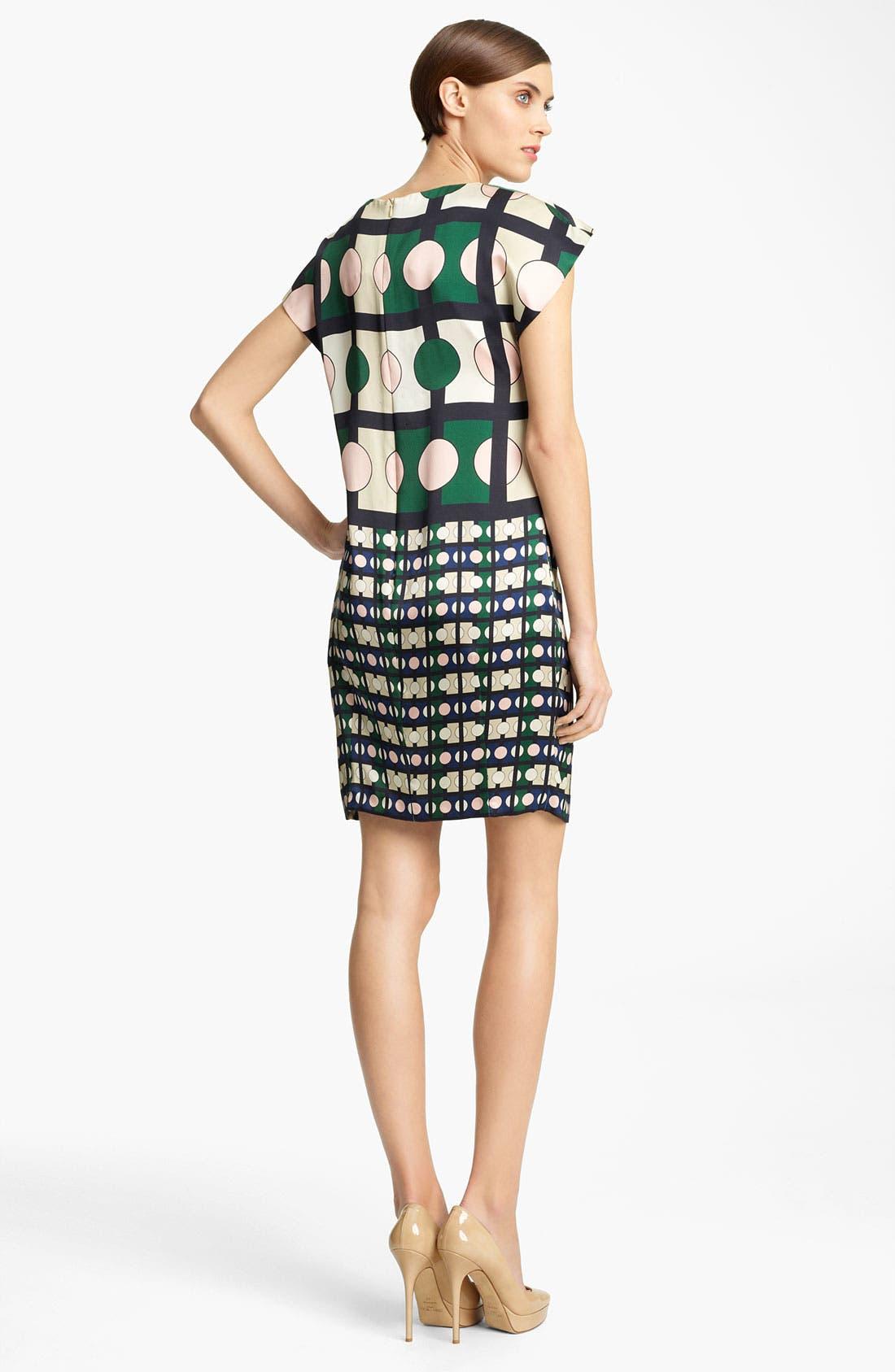Alternate Image 2  - Piazza Sempione Geometric Print Silk Dress