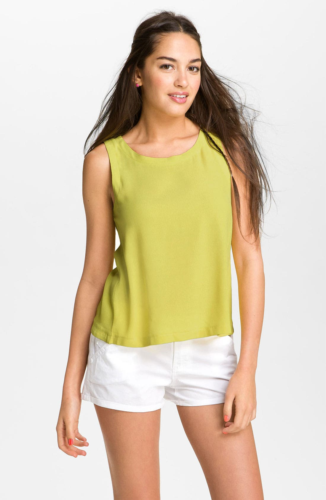 Main Image - Lush Button Back Tank (Juniors)