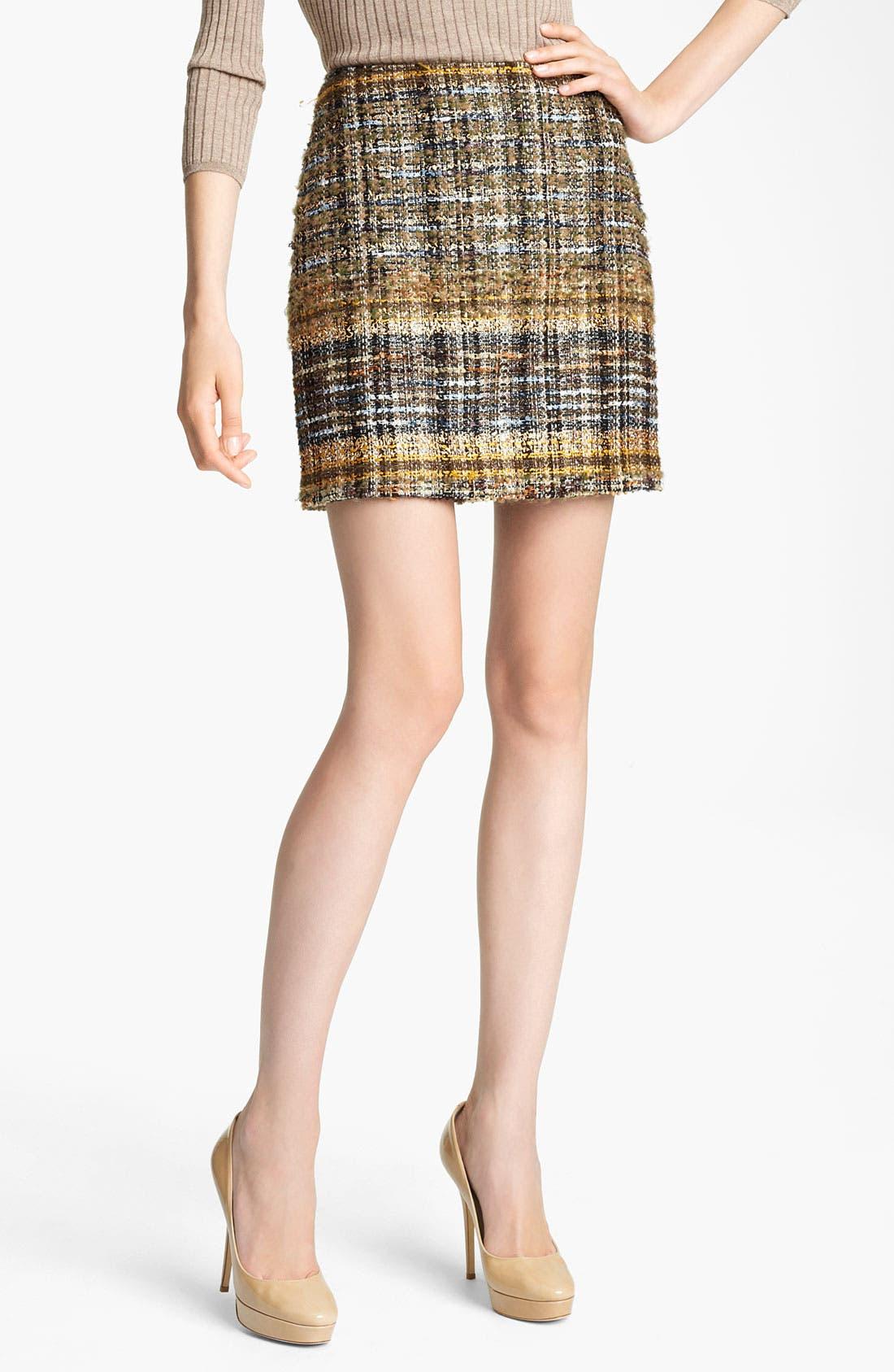 Main Image - Blumarine Tweed Miniskirt