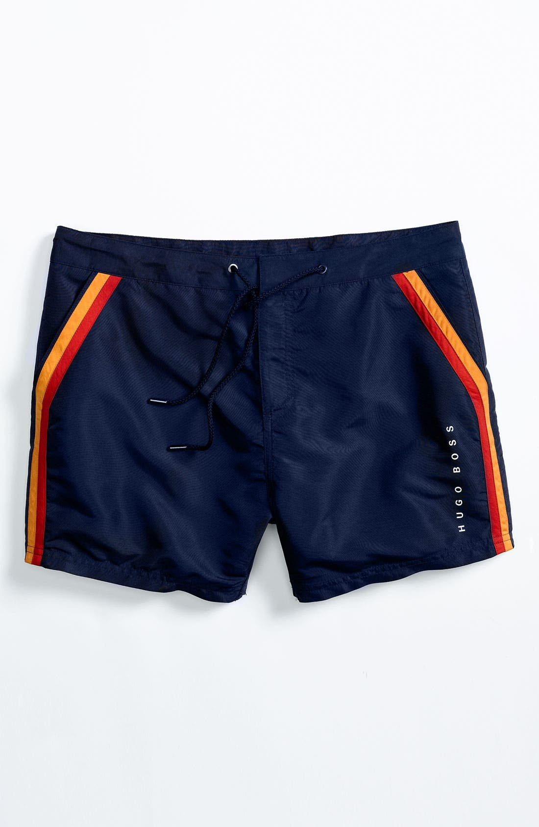 Alternate Image 4  - BOSS HUGO BOSS 'Rainbowfish' Stripe Swim Shorts