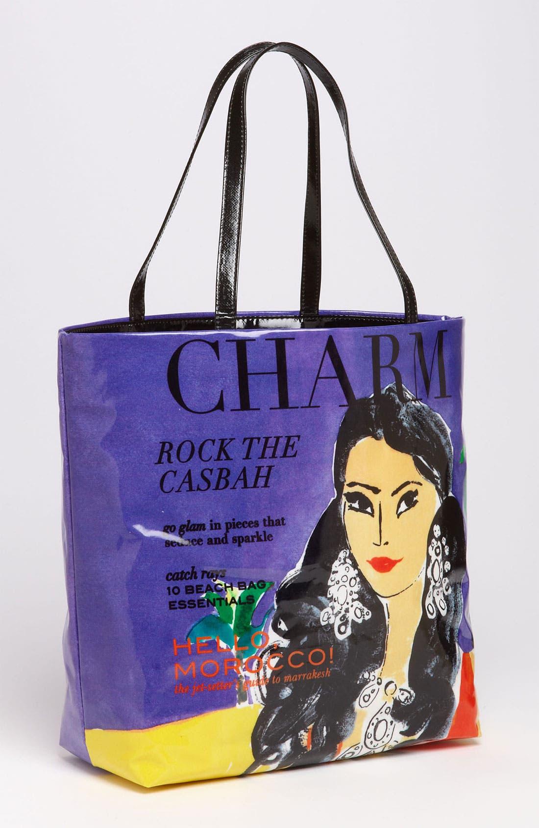 Main Image - kate spade new york 'daycation' coated canvas bon shopper