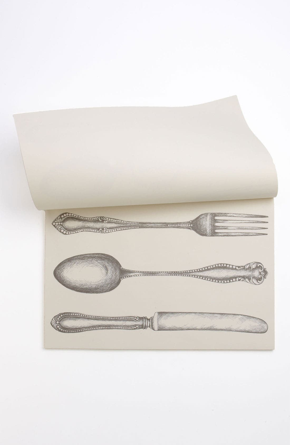 Alternate Image 2  - Kitchen Papers by Cake 'Fork, Knife, Spoon' Paper Placemat Pad