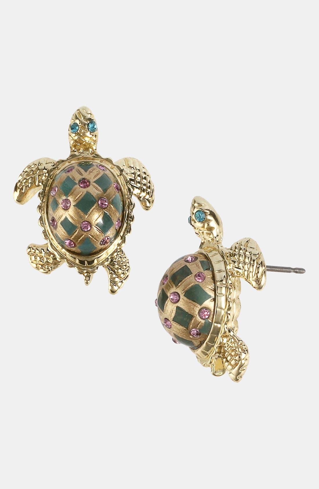 Main Image - Betsey Johnson 'Sea Excursion' Turtle Earrings