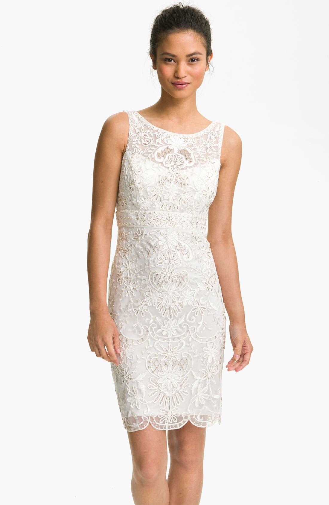 Alternate Image 1 Selected - Sue Wong Embellished Open Back Sheath Dress