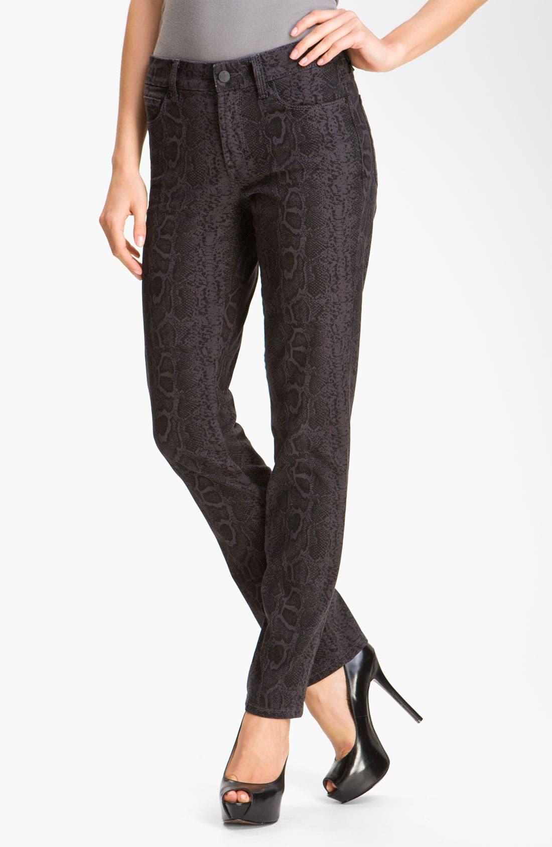 Alternate Image 1 Selected - NYDJ 'Sheri' Python Print Skinny Twill Jeans
