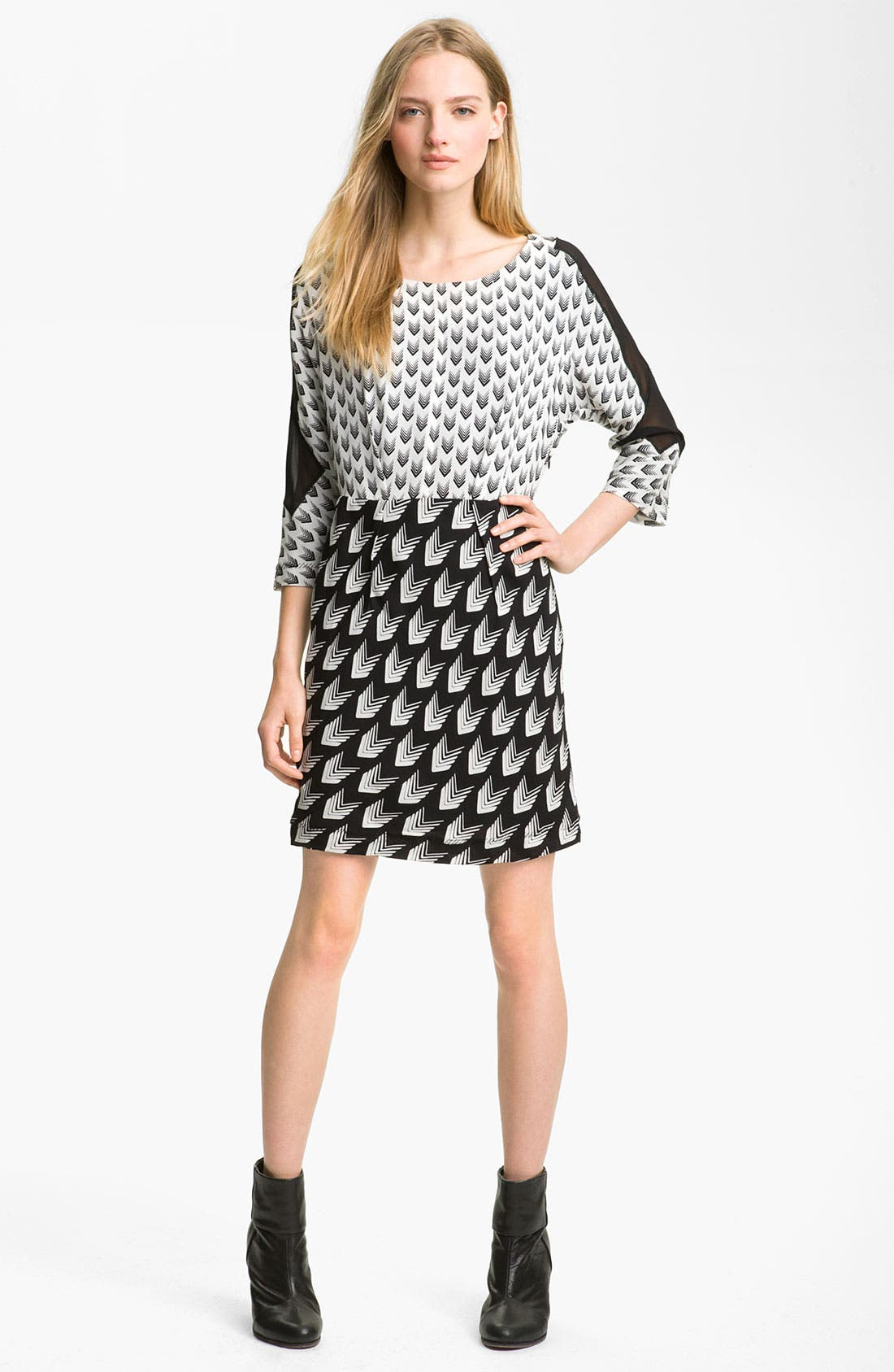 Main Image - rag & bone 'Gayatri Arrow' Print Crepe Dress