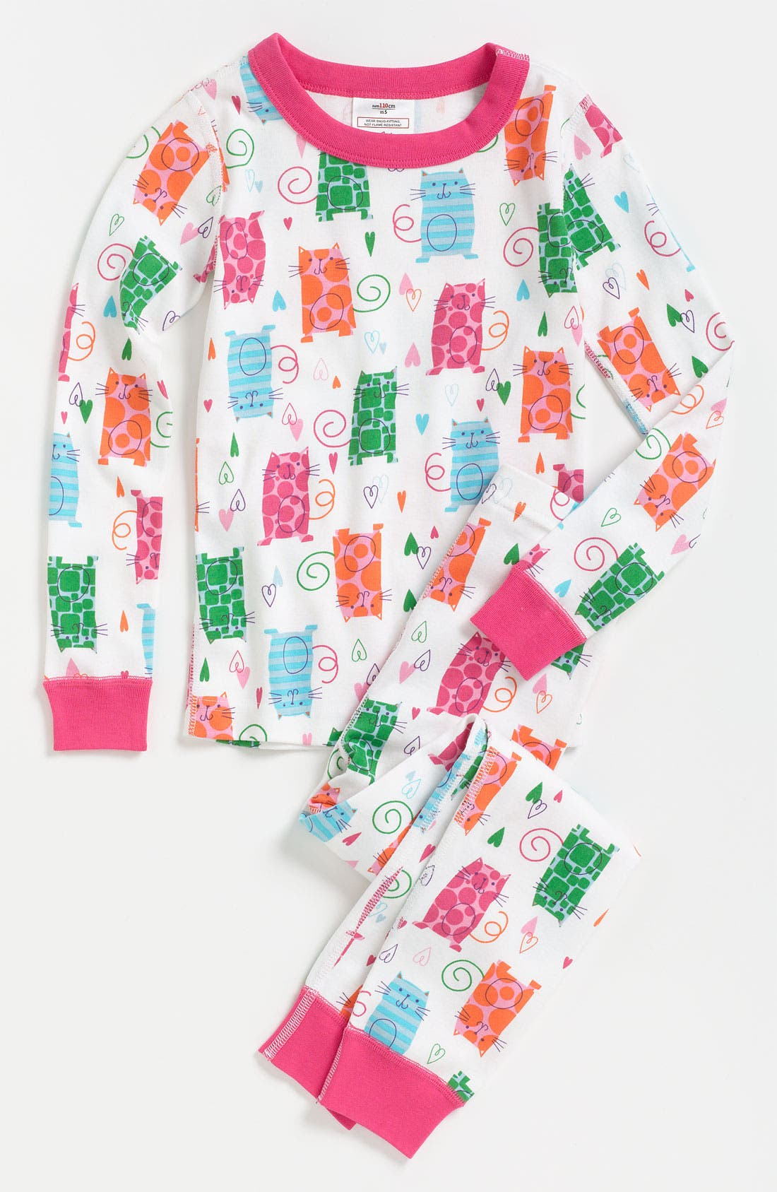 Alternate Image 1 Selected - Hanna Andersson Fitted Pajamas (Toddler)