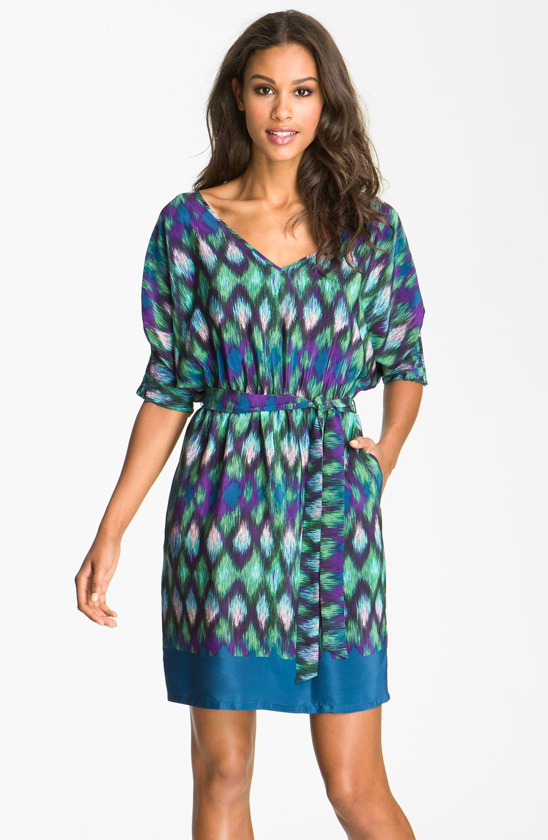 Alternate Image 1 Selected - Presley Skye 'Laura' Print Blouson Silk Dress