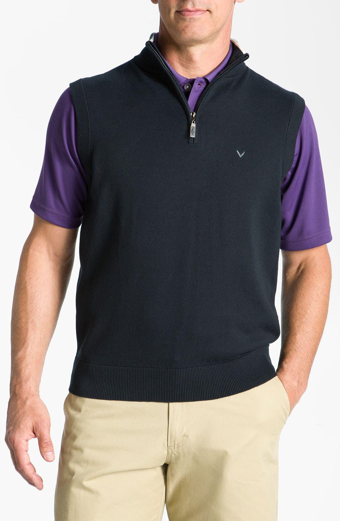 Main Image - Callaway Golf® Quarter Zip Vest