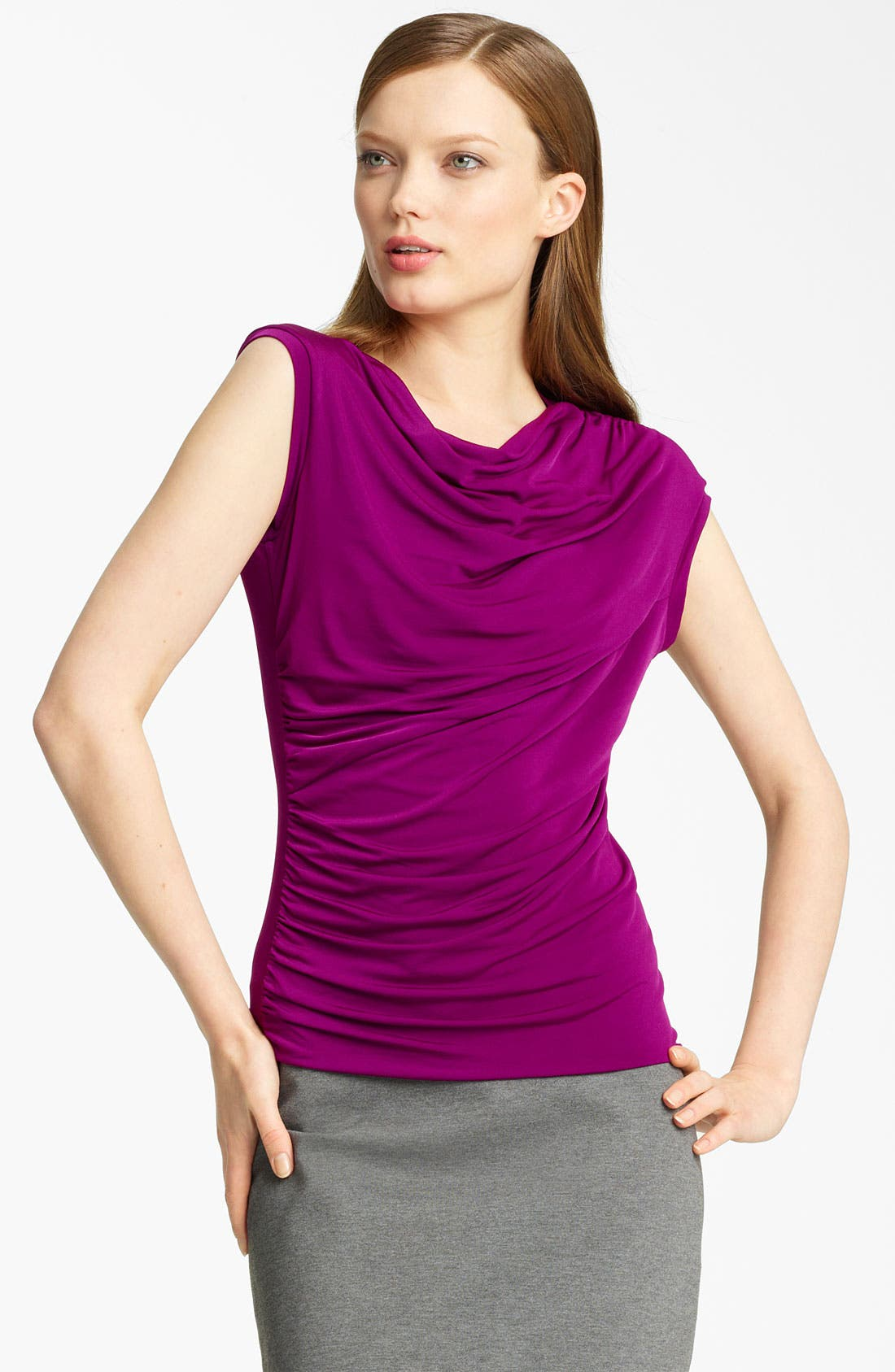 Main Image - Lida Baday Ruched Jersey Top