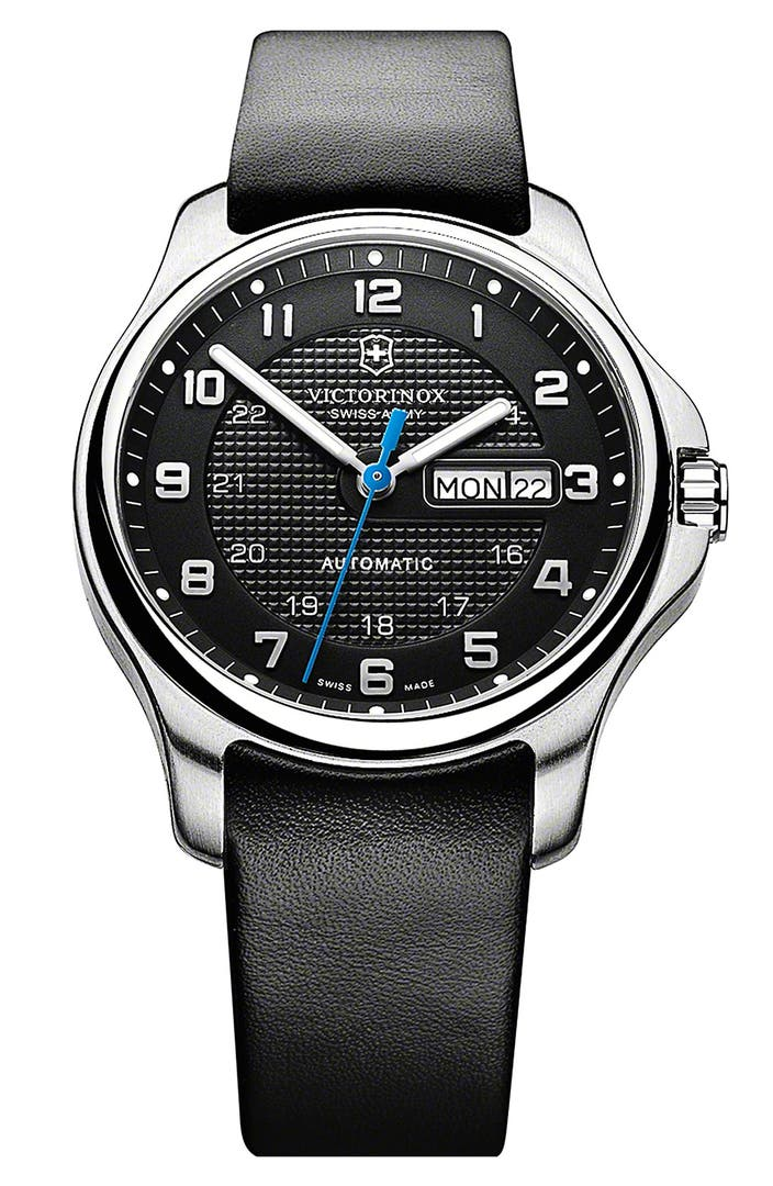 Victorinox Swiss Army 174 Officer S Automatic Leather Strap