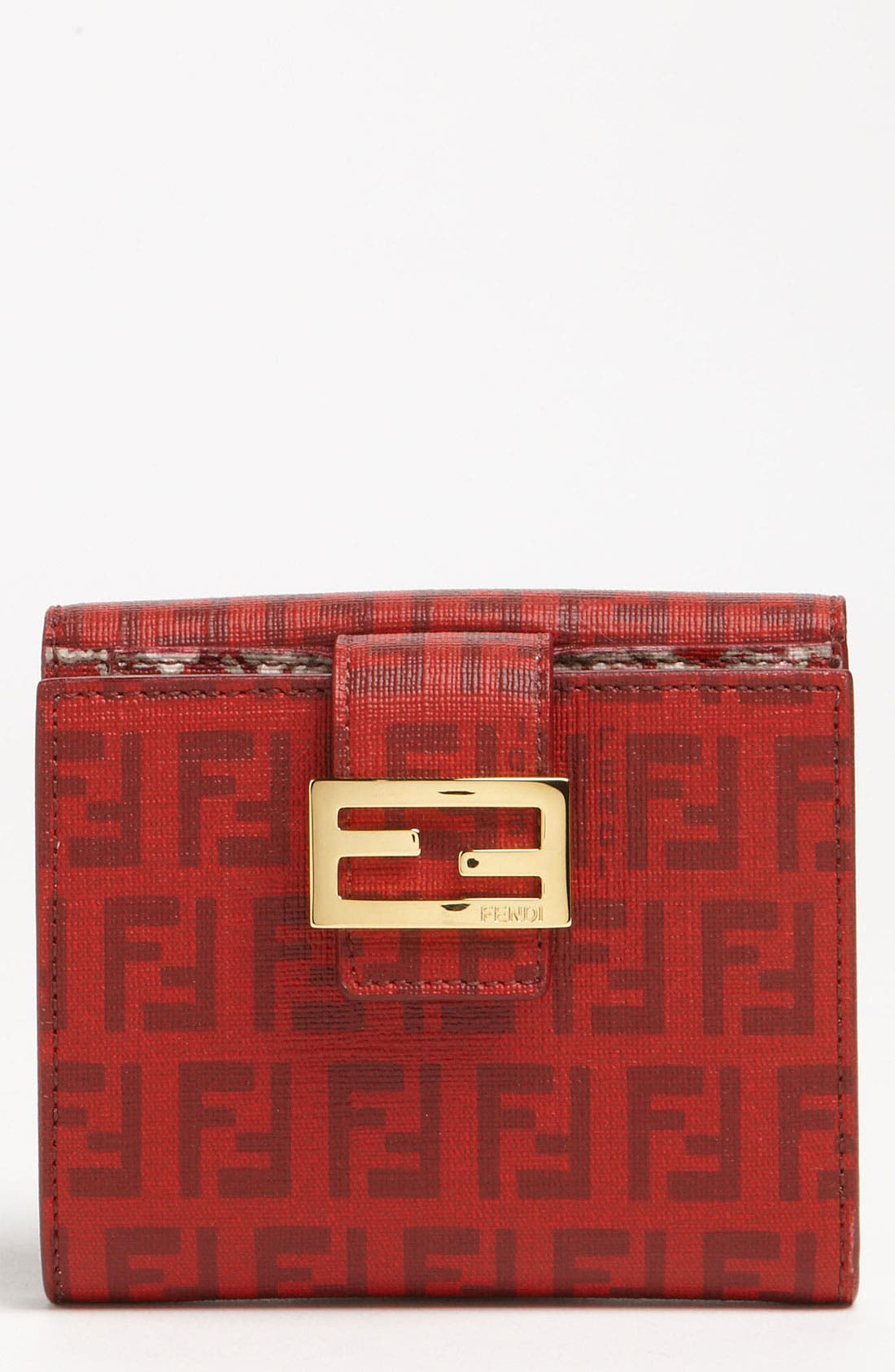 Main Image - Fendi 'Forever Flowers' French Wallet
