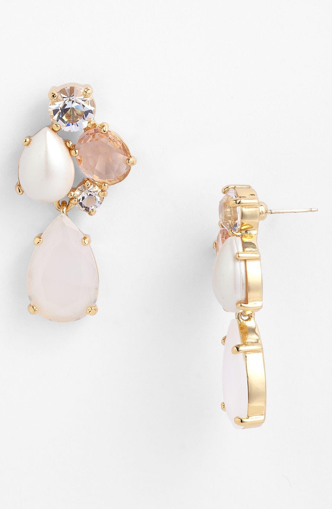 Main Image - kate spade new york 'crystal chapel' drop earrings