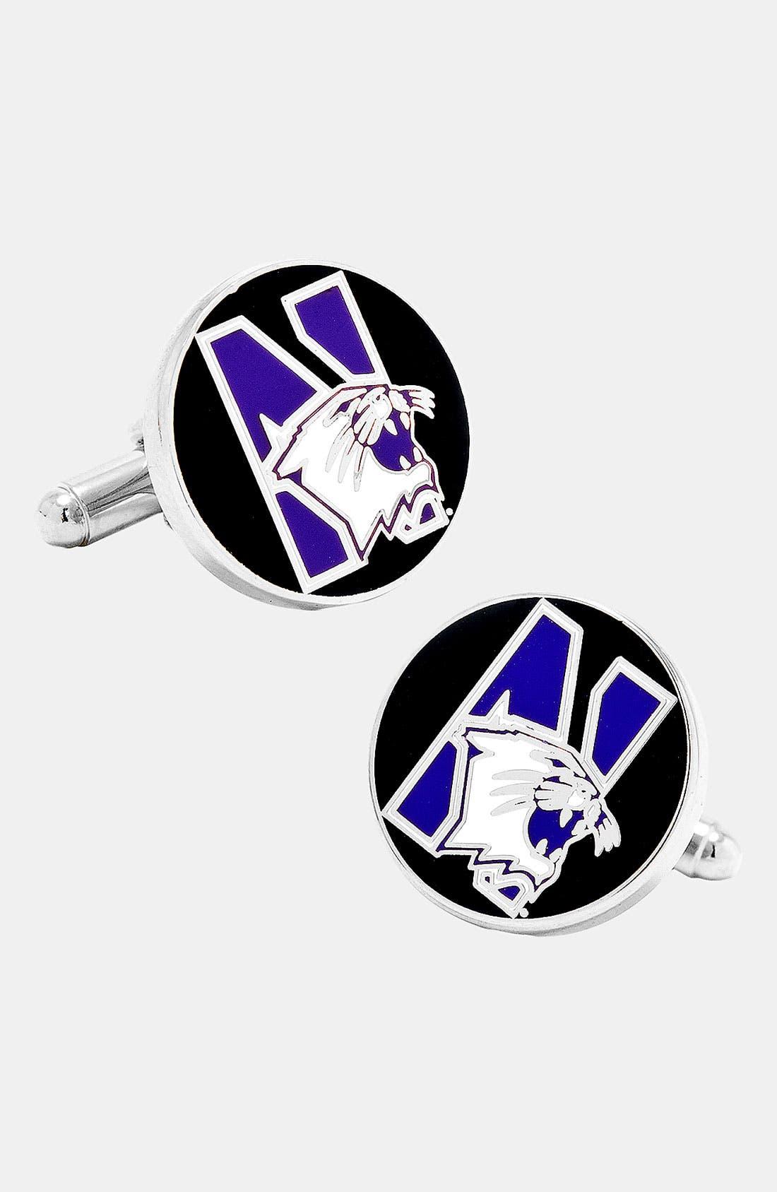 Main Image - Cufflinks, Inc. 'Northwestern University Wildcats' Cuff Links