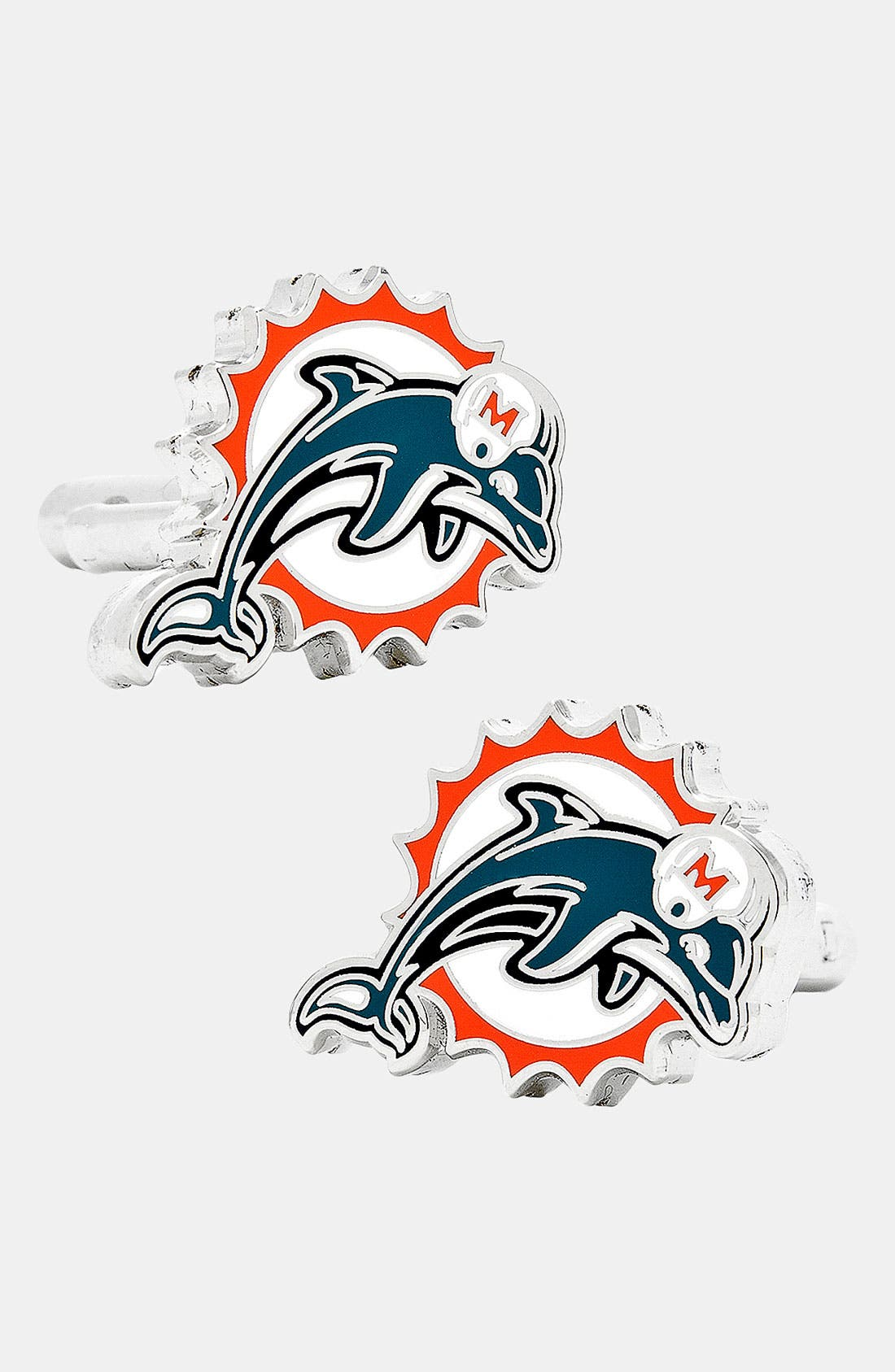 Alternate Image 1 Selected - Cufflinks, Inc. 'Miami Dolphins' Cuff Links