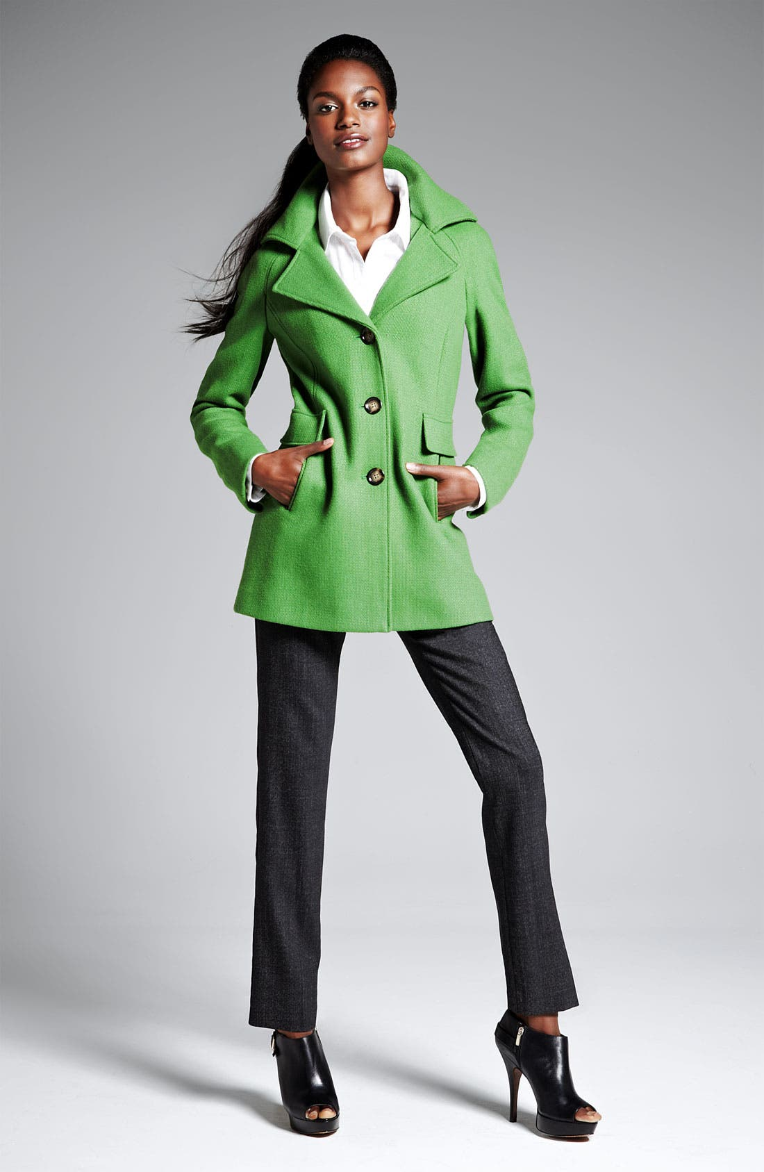 Alternate Image 5  - Calvin Klein Single Breasted Coat