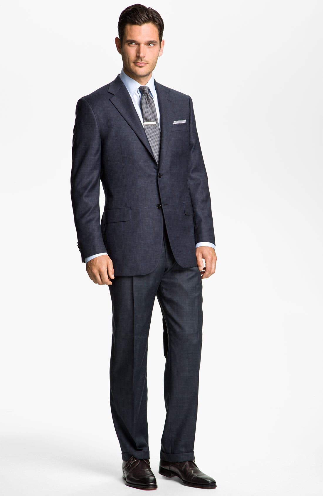 Alternate Image 2  - Hickey Freeman Windowpane Suit