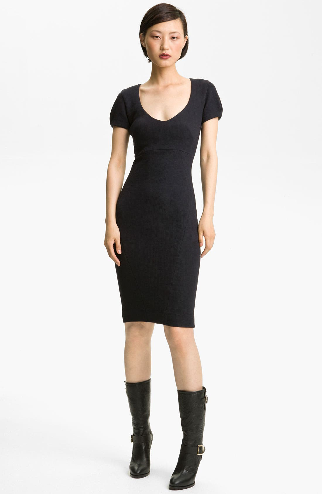 Main Image - L'AGENCE Ponte Knit Dress