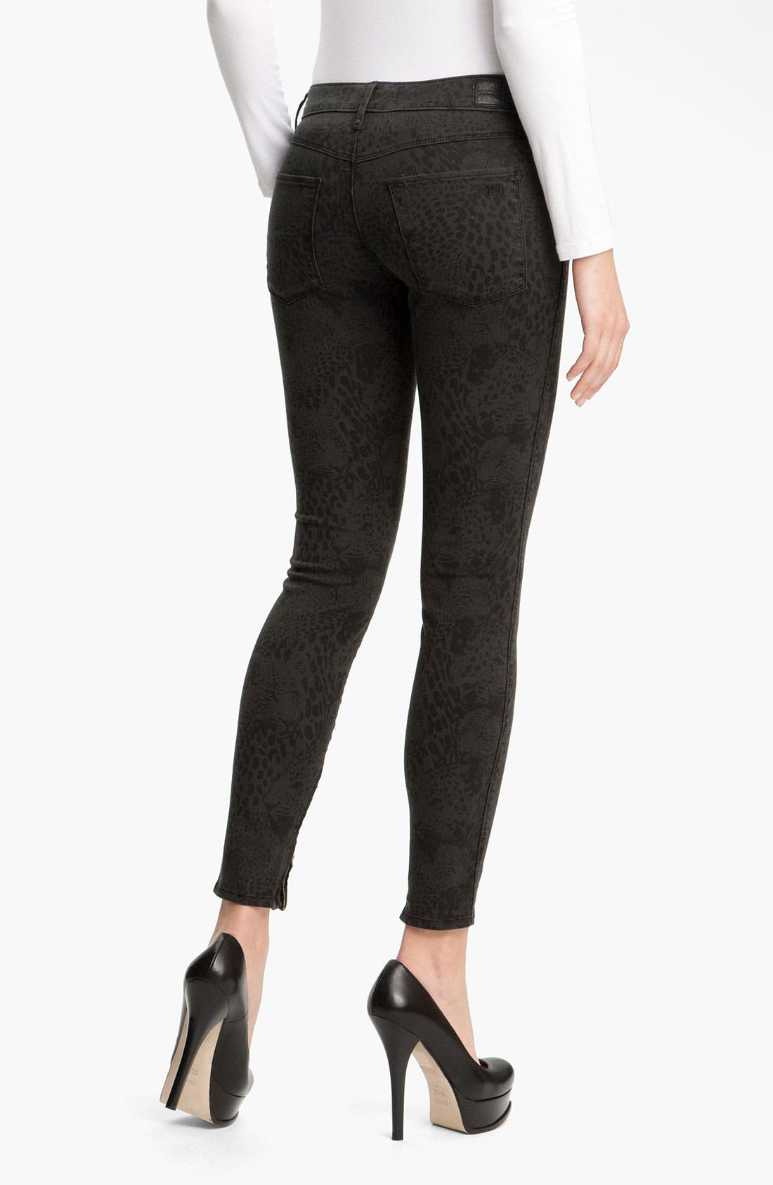 Alternate Image 2  - Habitual 'Almas' Leopard Print Skinny Stretch Jeans