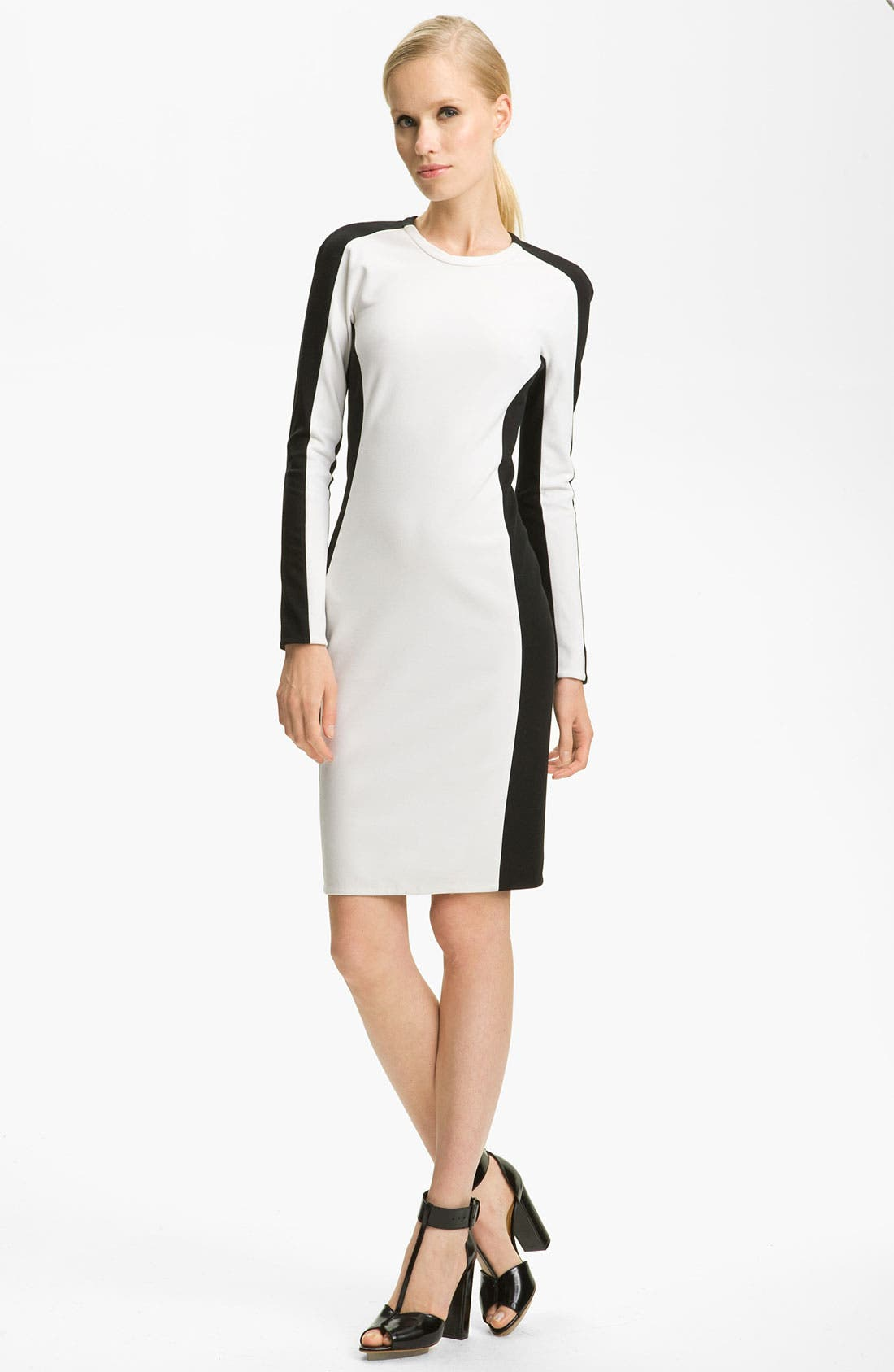 Alternate Image 1 Selected - 3.1 Phillip Lim Shadow Stripe Ponte Knit Dress