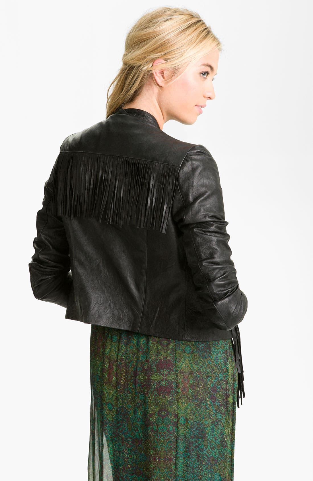 Alternate Image 2  - Ella Moss 'Stevie' Lambskin Leather Jacket