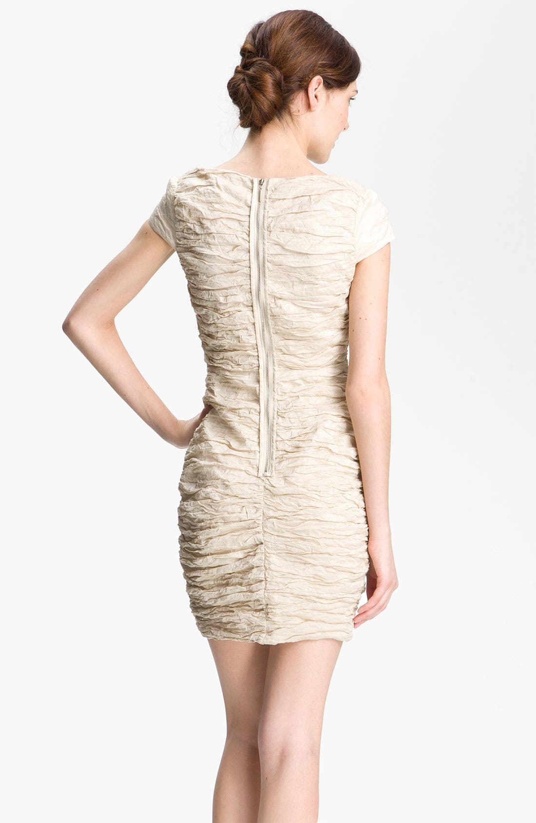 Alternate Image 2  - Alexia Admor Ruched Metallic Woven Dress
