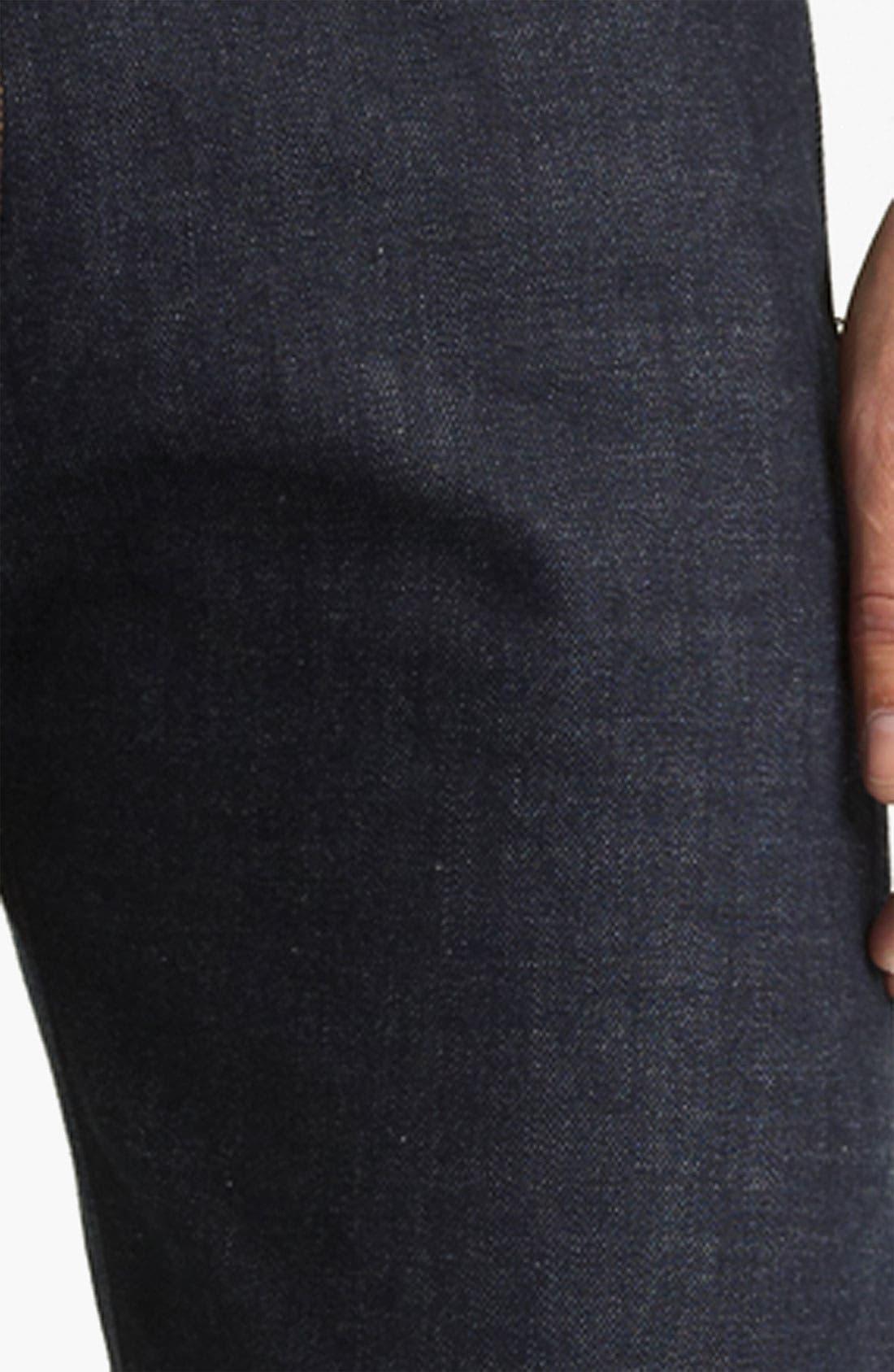 Alternate Image 4  - Rogan 'Puck' Slim Straight Leg Selvedge Denim Jeans (Indigo)