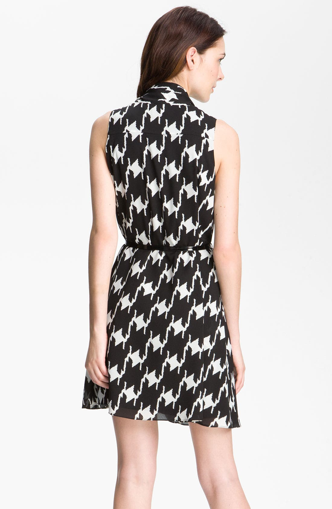 Alternate Image 2  - Vince Camuto Houndstooth Tie Neck Day Dress