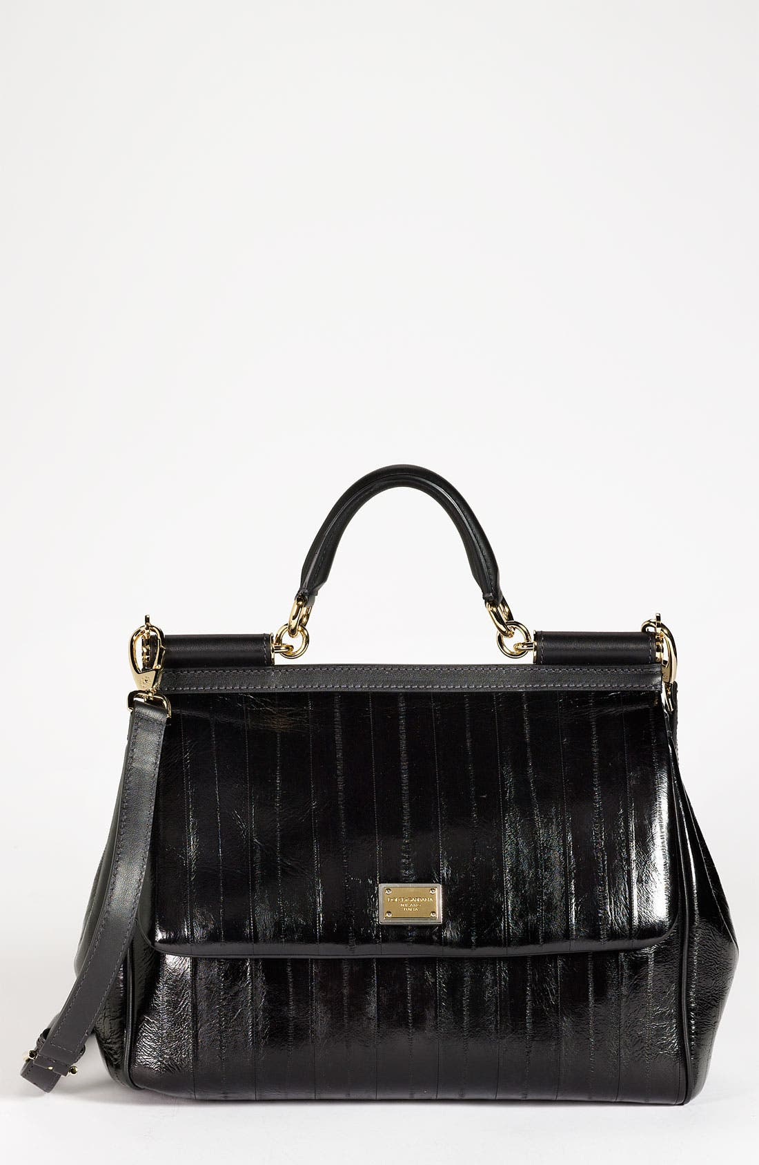Main Image - Dolce&Gabbana 'Miss Sicily' Eel & Leather Satchel