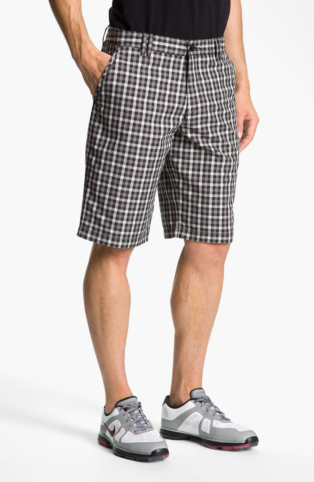 Main Image - BOSS Green 'Hitch' Plaid Golf Shorts