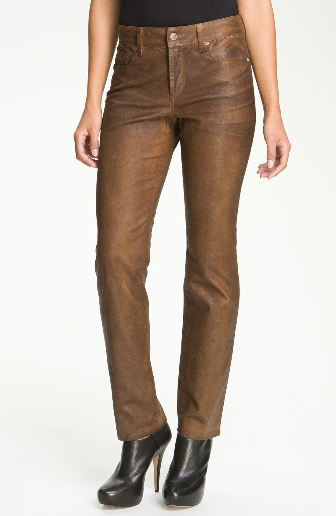 Main Image - NYDJ 'Sheri' Coated Skinny Jeans