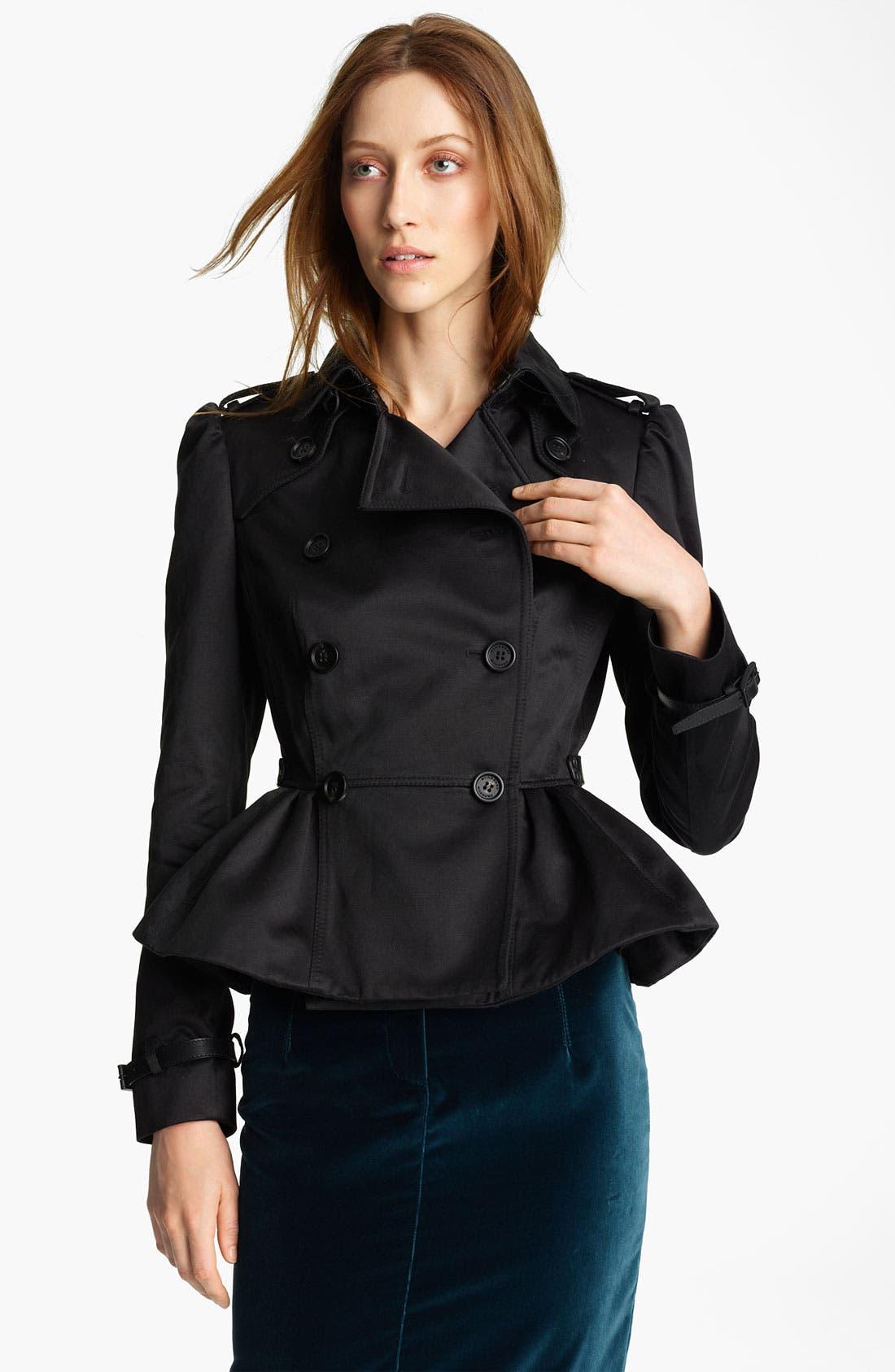 Main Image - Burberry Prorsum Peplum Crop Jacket