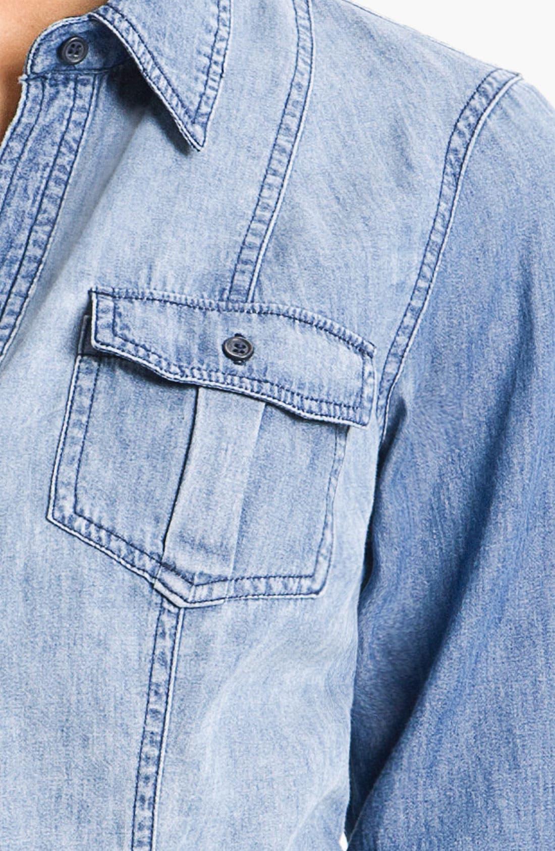 Alternate Image 3  - Sandra Ingrish Roll Sleeve Denim Shirt
