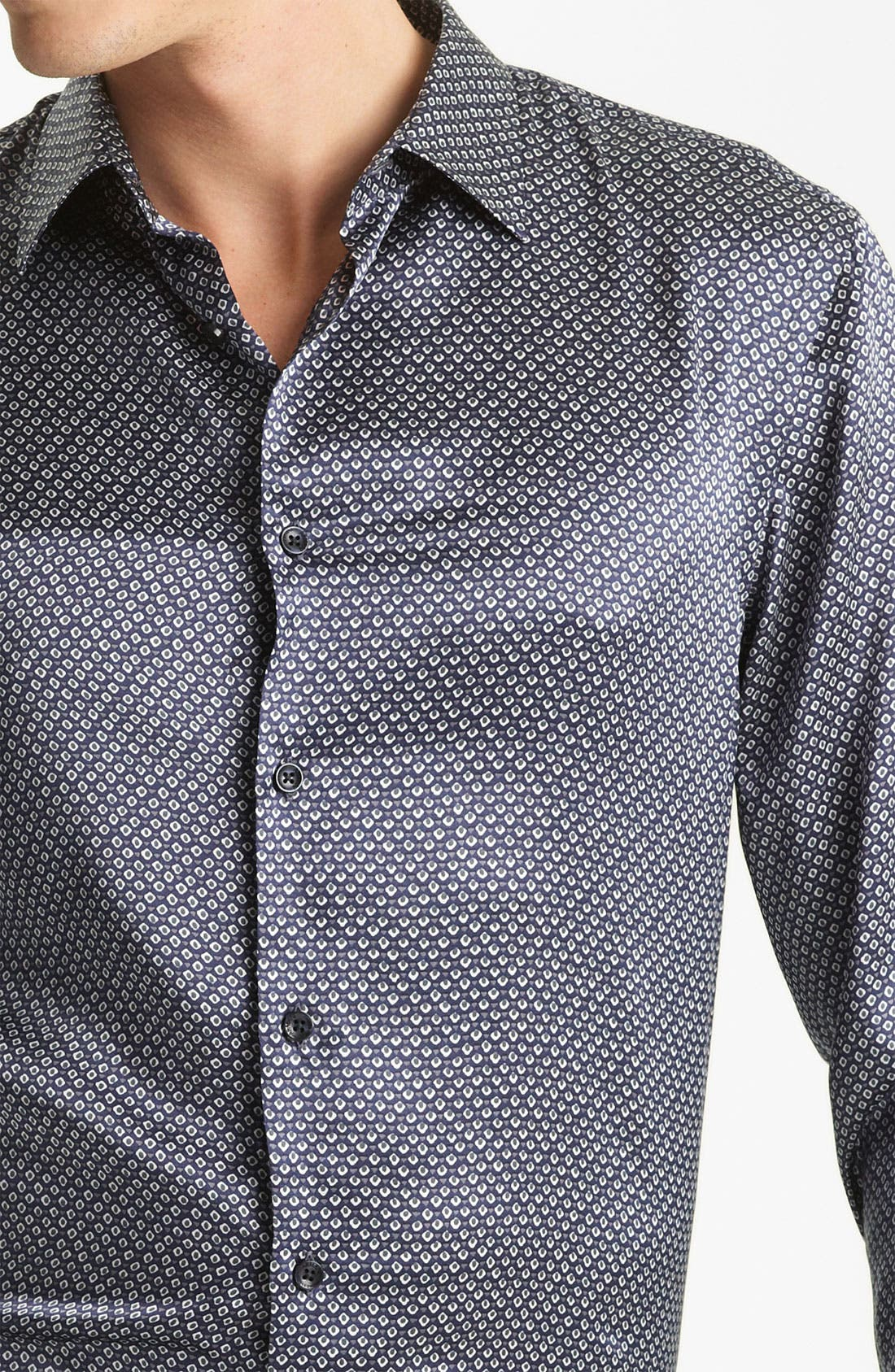 Alternate Image 3  - Armani Collezioni Silk Sport Shirt