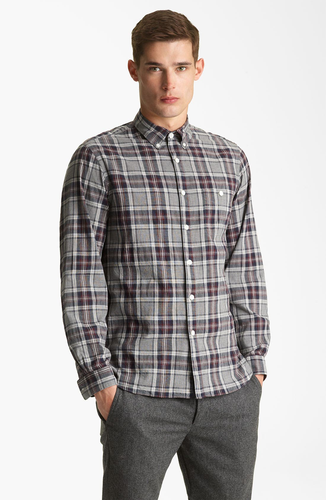 Main Image - Todd Snyder Plaid Sport Shirt