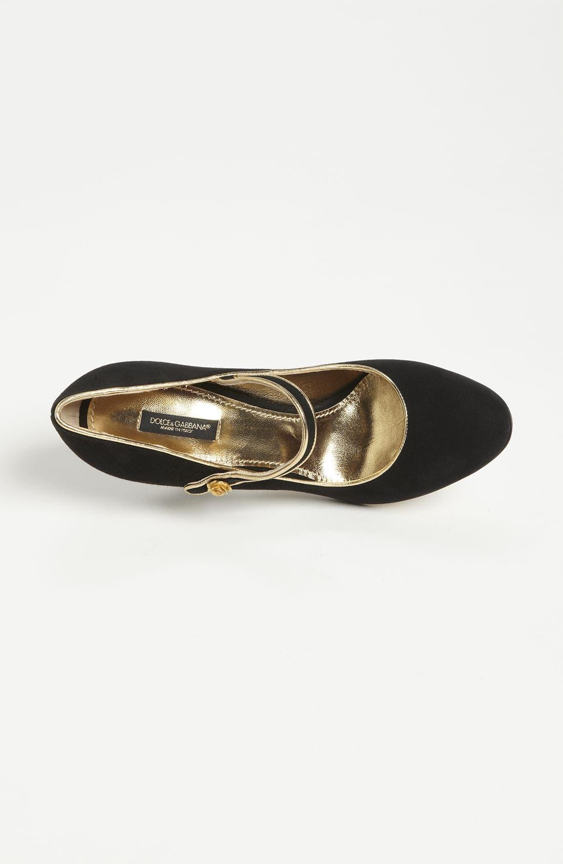 Alternate Image 3  - Dolce&Gabbana Velvet Mary Jane Pump