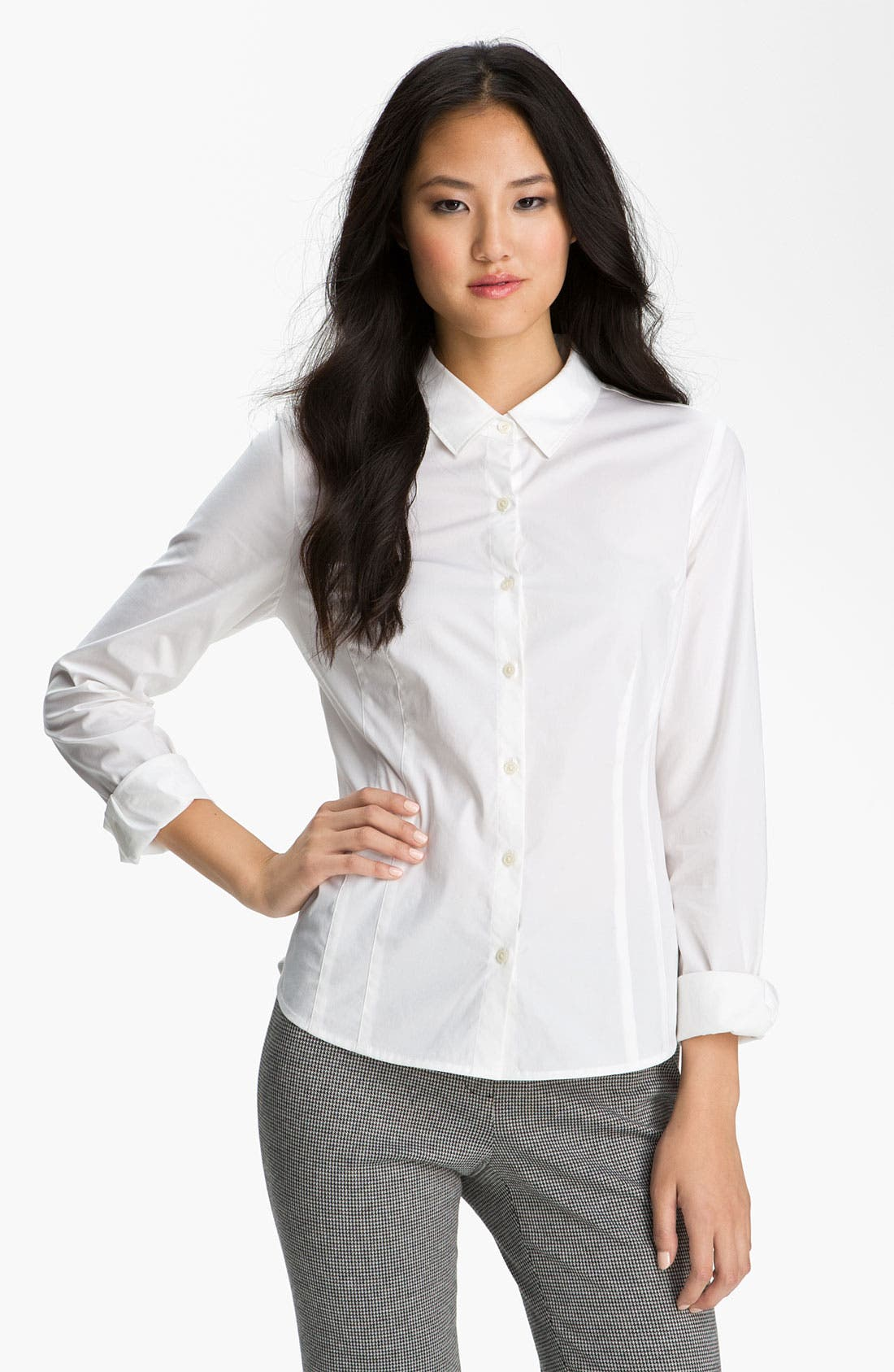 Main Image - Halogen® Stretch Cotton Shirt