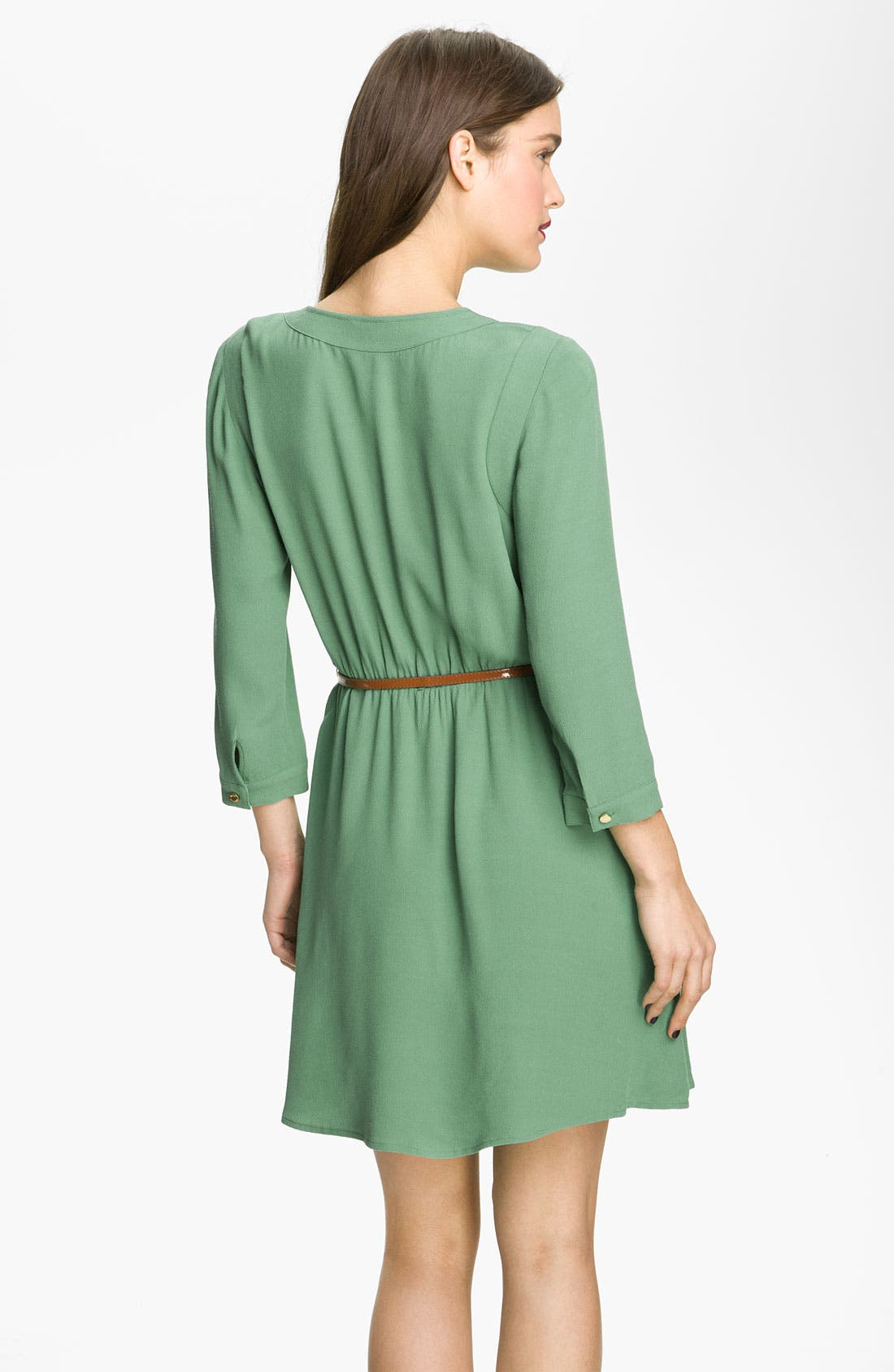 Alternate Image 2  - Juicy Couture Belted Crepe Dress