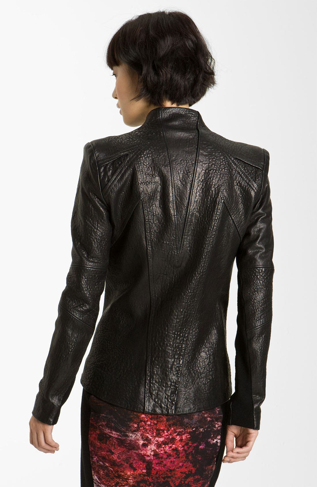 Alternate Image 2  - Helmut Lang Blistered Leather Jacket