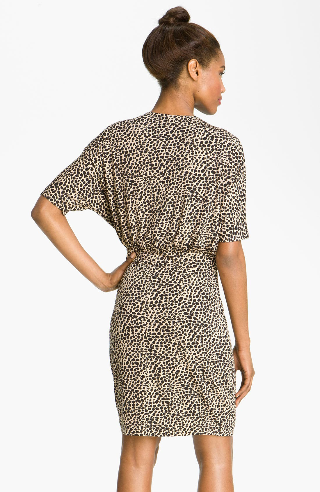 Alternate Image 2  - Vince Camuto Dolman Sleeve Faux Wrap Dress