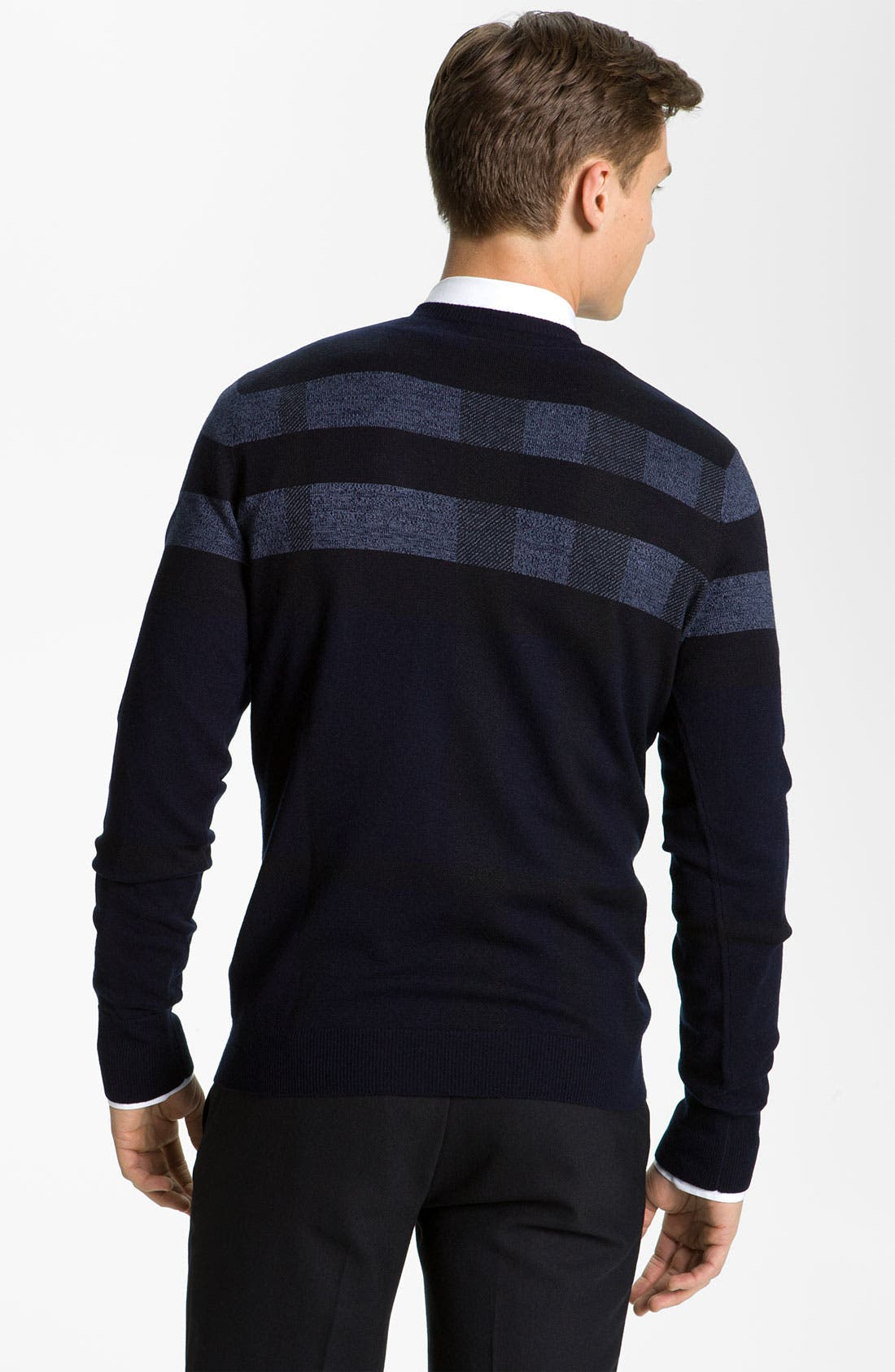 Alternate Image 2  - Burberry London Wool Blend Sweater