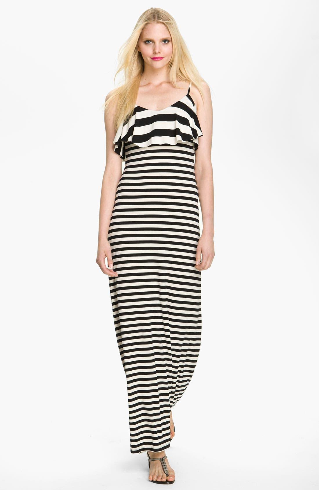 Alternate Image 1 Selected - Seamline Cynthia Steffe 'Leslie' Print Ruffle Front Maxi Dress