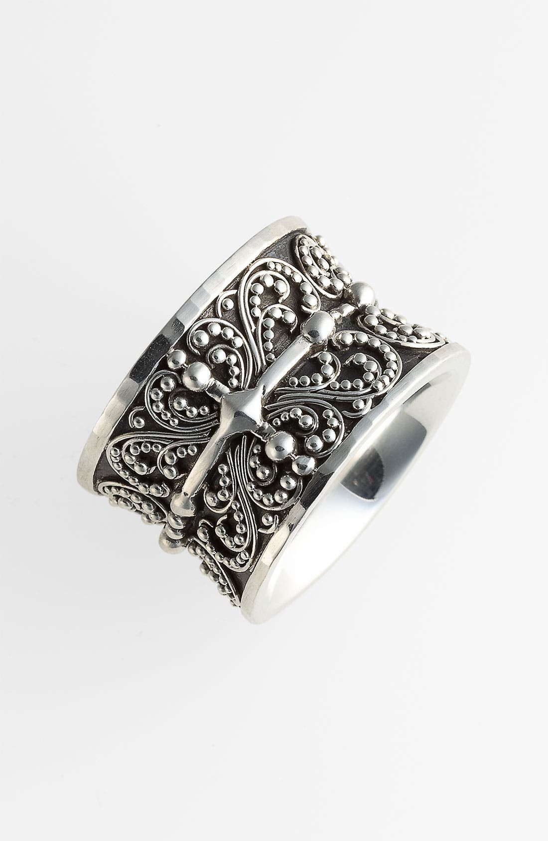 Alternate Image 1 Selected - Lois Hill 'Haveli' Granulated Cigar Band Ring