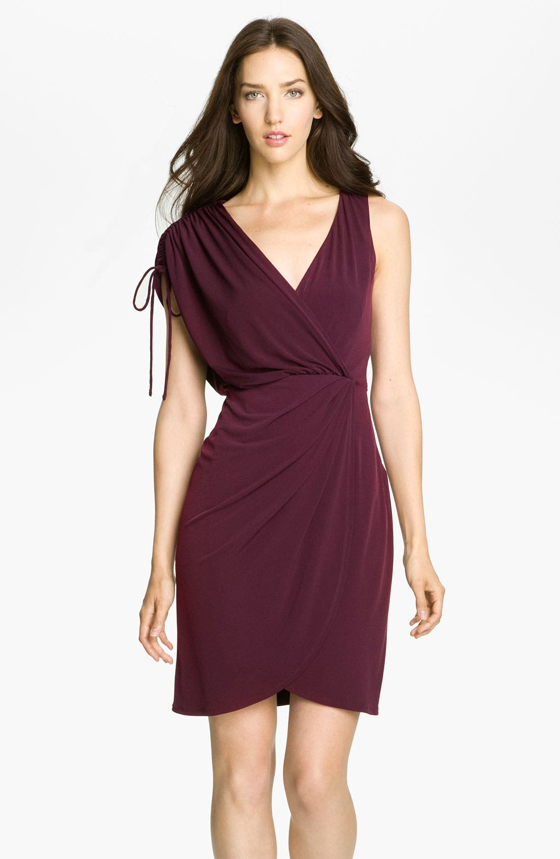 Main Image - Trina Turk 'Suspicion' Asymmetrical Surplice Jersey Dress